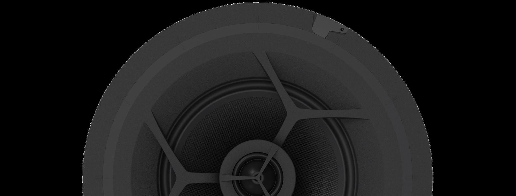 rendering of 8 inch speaker in black