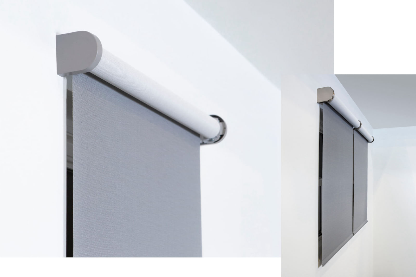 Pictures of 2 windows using Decor shade hardware