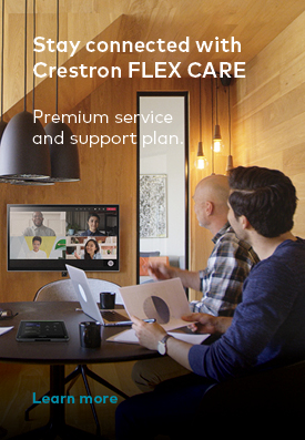Stay connected with Crestron FLEX CARE